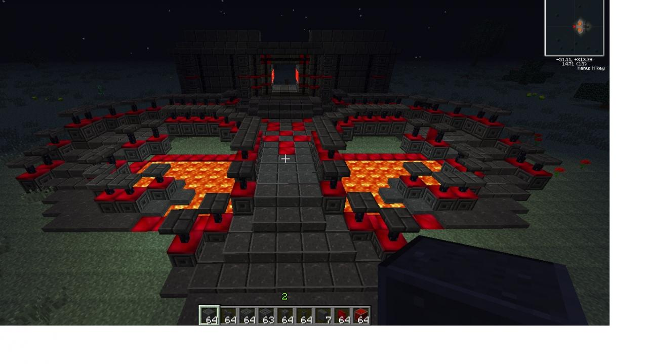 minecraft how to build a evil fortress