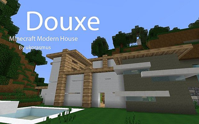 Douxe Minecraft Modern House With Delica Laxe And Moda