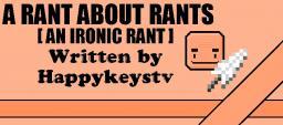 Ironic Rant[Pop-Reel!] Minecraft Blog