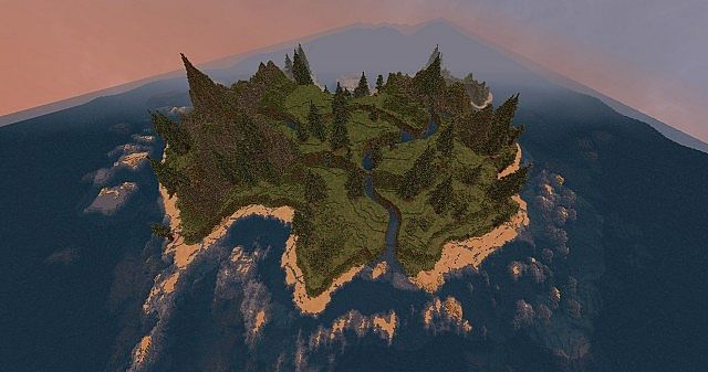 Custom minecraft island highland cliff tops with custom trees project details sciox Image collections