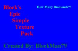 Block's Epic Simple Texture Pack! (WIP) 1.5.2