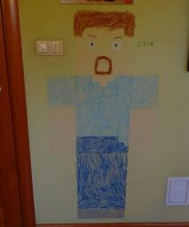 Minecraft Steve - A painting on my room wall Minecraft Blog
