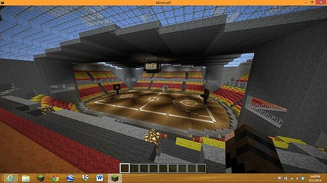 Miami Basketball Arena Basketball Arena Minecraft