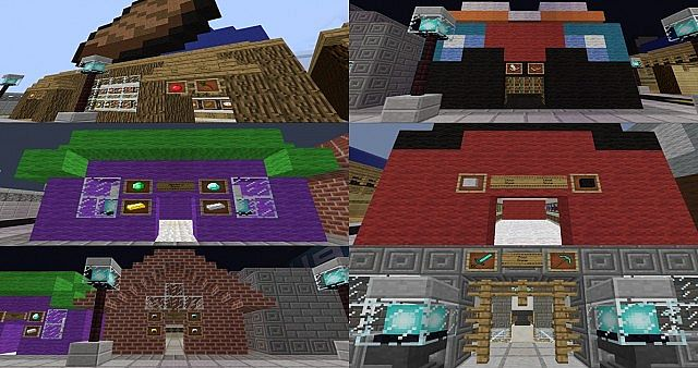 Food Shop, Enchantment Shop, Jewelry Shop, Wool Shop, Armor Shop, Tools and Weapon Shop