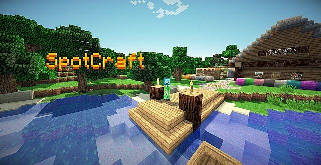 1.5.2 SpotCraft Official Texturepack Beta 1.1.2 by spotlightLP Minecraft Texture Pack