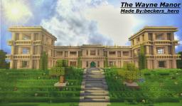 The Wayne Manor [With Batcave] Minecraft Map & Project