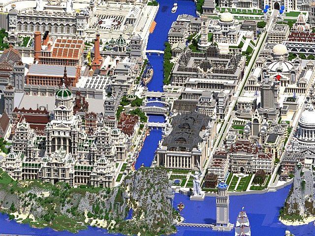 minecraft карты город #11