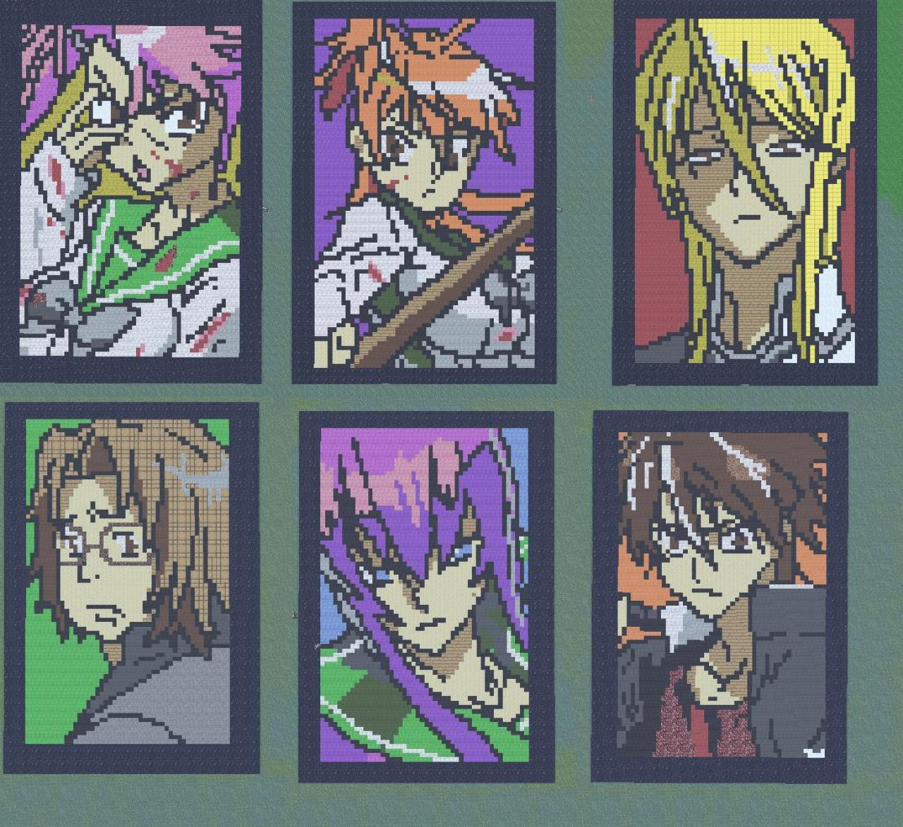 Highschool Of The Dead Character Murals Minecraft Project