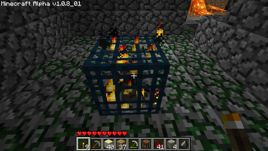 minecraft how to make a zombie spawner