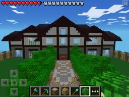 mansion with huge garden minecraft pe minecraft project