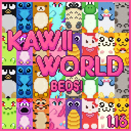 Kawaii World! Beds Minecraft Texture Pack