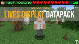 Lives display data pack V4 Minecraft Data Pack