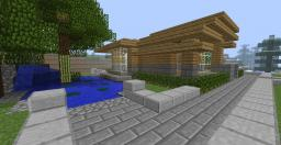 Modern House with a Big Basement Minecraft Map & Project