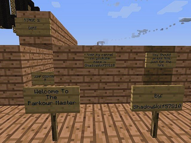 how to become a parkour master minecraft