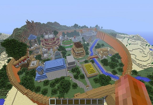 Download Map Naruto World 5 0. leaf village Tale of Naruto adventure map  part 2 Minecraft Project
