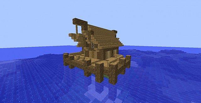 Nordic Fishing Hut Remake! Minecraft Project