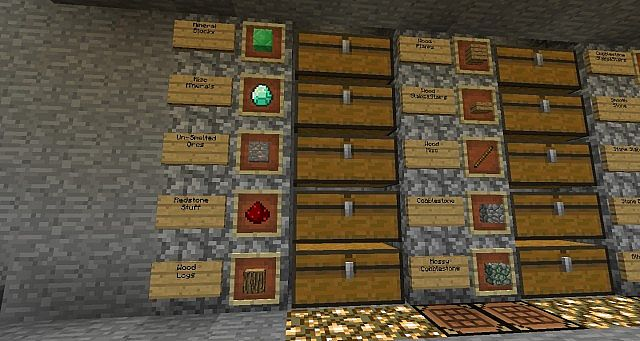 Basement Storage Minecraft Project