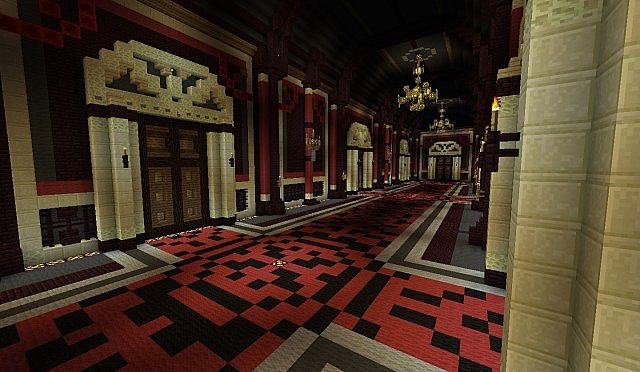Minecraft Foyer Ideas : Scarlet devil mansion 東方 touhou minecraft project