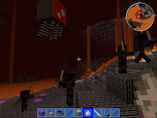 Nether, cant find a nether fortress, it has animated walls
