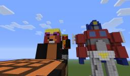 Pixel art world Includes skin house! Minecraft Map & Project
