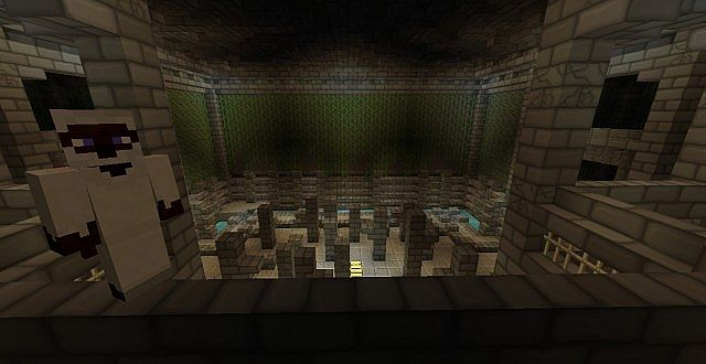 A small PvP area in the spawn.