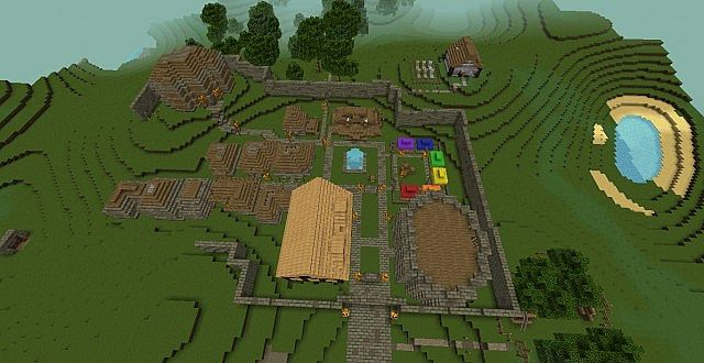 And aerial view of the RP village. In progress.