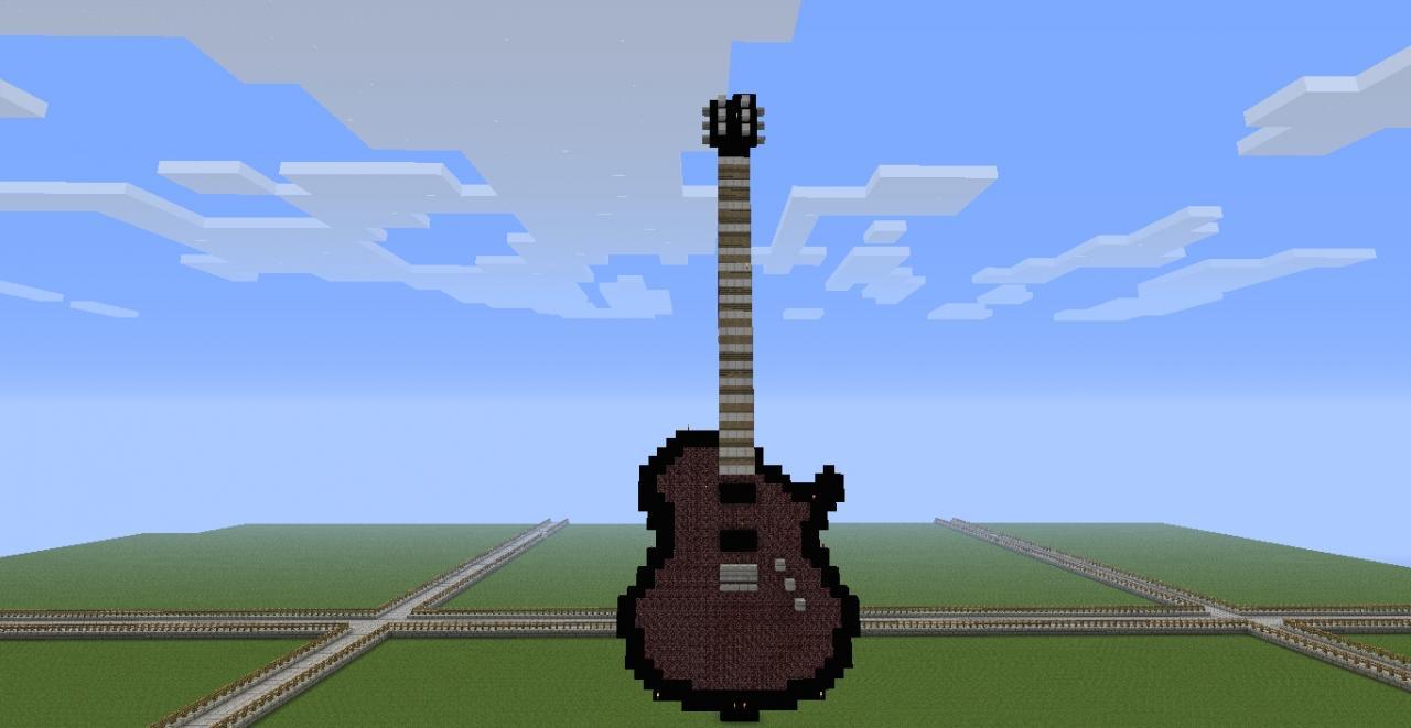 pixel art guitar minecraft project