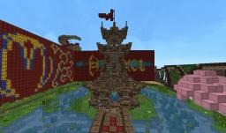 Pagoda- Oriental walls map Minecraft