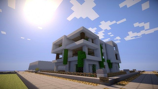 Atypical Modern House Minecraft Project