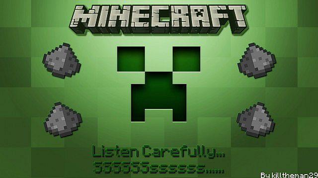 Hd Minecraft Wallpaper Creeper Fuse