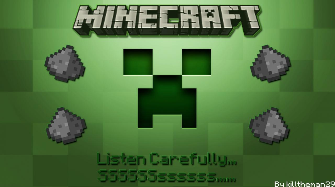 HD Minecraft Wallpaper - Creeper Fuse