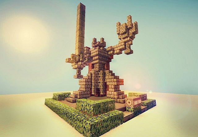 Mini Temple Build Minecraft