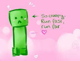 Sweet baby-creeper. Minecraft