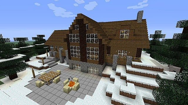 Large-Cabin-Clear_5582353 Winter Minecraft House Design on ponyville house, terraria winter house, cats winter house, cartoon winter house, fluttershy's house, the sims 3 winter house, pallet chicken house,