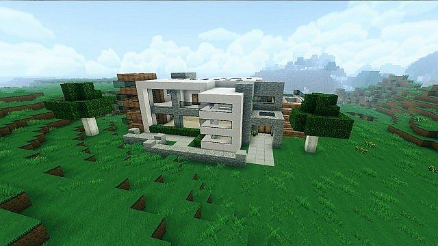 Medium modern house minecraft