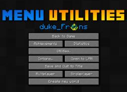 Menu Utilities || Instantly change from SP to MP  [Continueing] Minecraft Mod