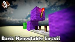 Basic Monostable Circuit Tutorial - Minecraft Redstone