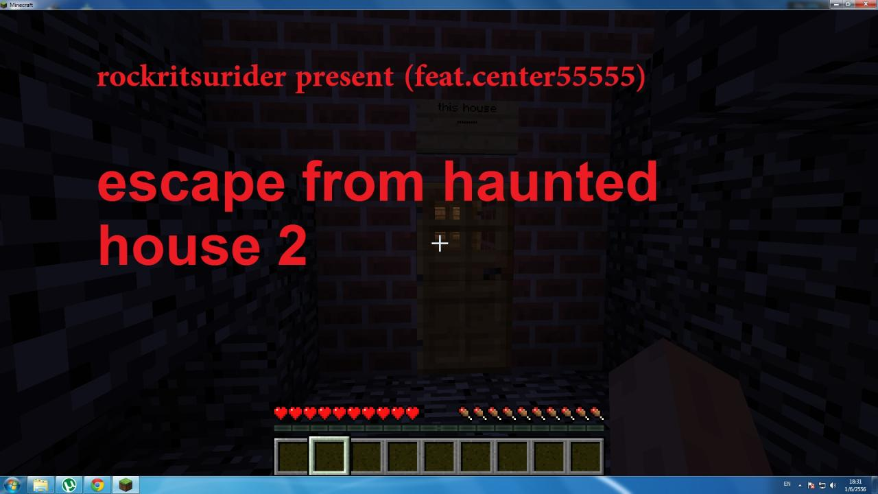 Escape from haunted house part 2 minecraft project for Minimalist house escape 2