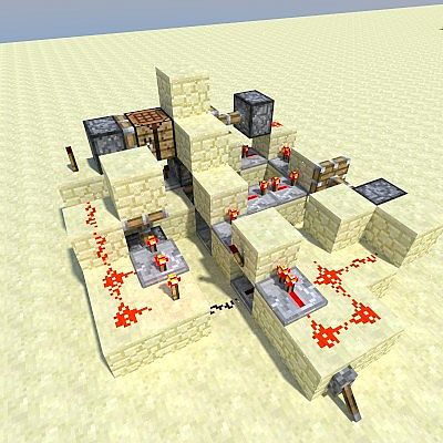 how to make a hidden crafting table in minecraft