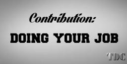 Contribution - Doing Your Job Minecraft