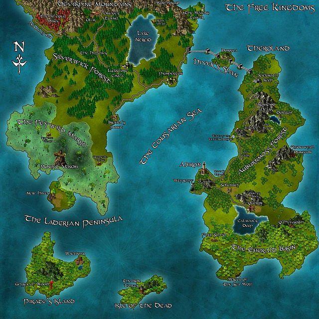 Freldon Fantasy Map Minecraft Project