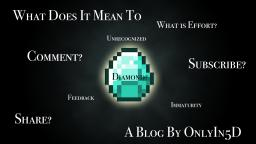 What Does It Mean To Diamond, Comment, Subscribe? Minecraft Blog