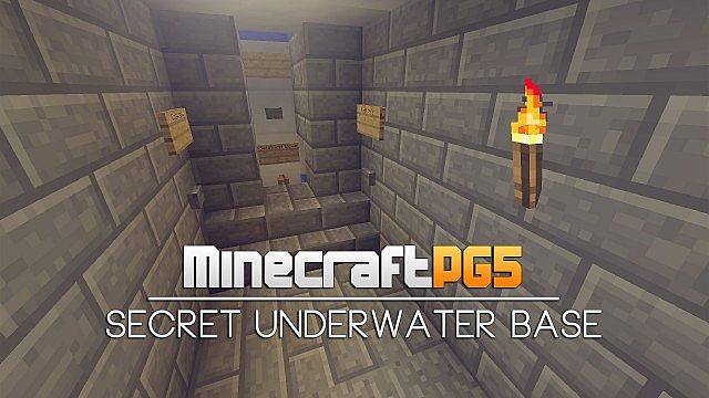 Secret Underwater Base With