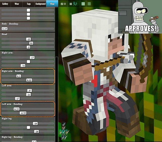 Screenshot with custom pose and bendind