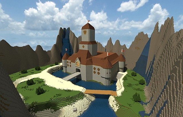Princess Peach S Castle Super Mario 64 Minecraft Project