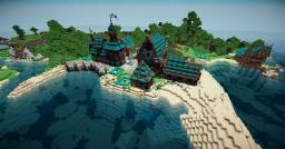 Adira, a little Medieval Port Minecraft Map & Project