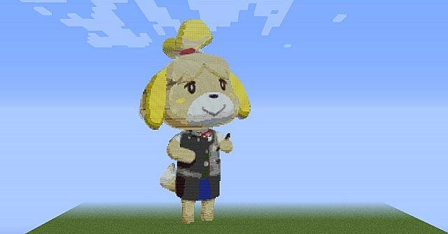 Animal Crossing Isabelle Minecraft Map