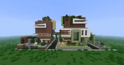 Ultra Modern Double House Minecraft
