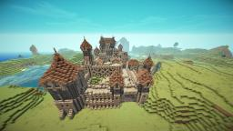 fc8c00d5eb Medieval Town with fortified Castle Minecraft Map   Project