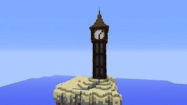A medieval clocktower. [With howtomake video] Minecraft ...